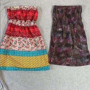 Strapless dress bundle! 2 Mini Dress with pockets